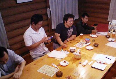 作州津山商工会久米支部青年部全体会議(はなまる亭)