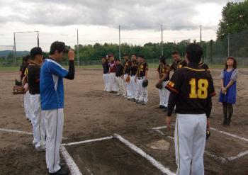 野球練習試合(津山商工会議所青年部・作州津山商工会青年部)