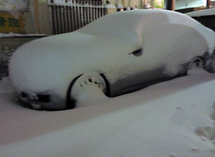 うちの車、遭難中。