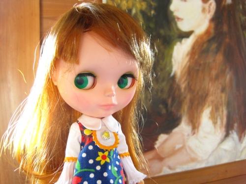 少女イレーネの絵の前で