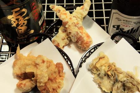 一品天ぷら各種小