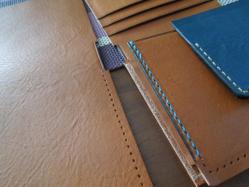 二つ折り財布、制作中