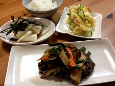 牛肉とエリンギの炒め物