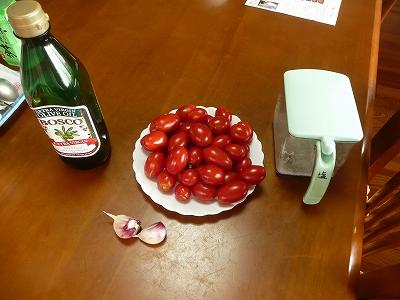 トマトソースの材料たち