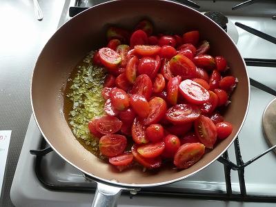 トマトをどーん!