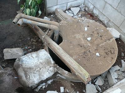解体二日目終了時の井戸 その2