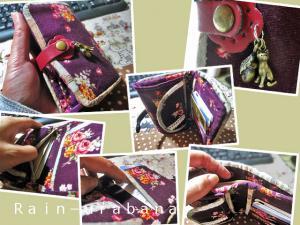 財布を作ってみました (^ ^V
