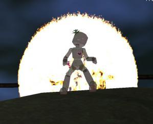 燃える人形