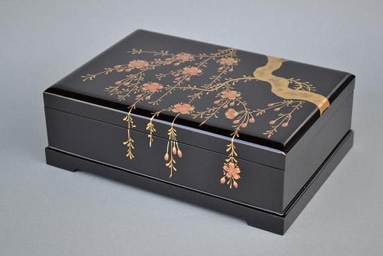しだれ桜オルゴール宝石箱 1
