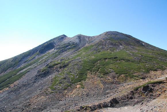 剣が峰山頂、一番左上が頂上です。