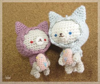 水色ずきんの猫ちゃん