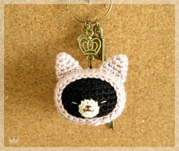 ずきん猫キーホルダー/色違い