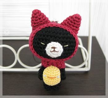 ずきん猫ストラップ-ひよこ-