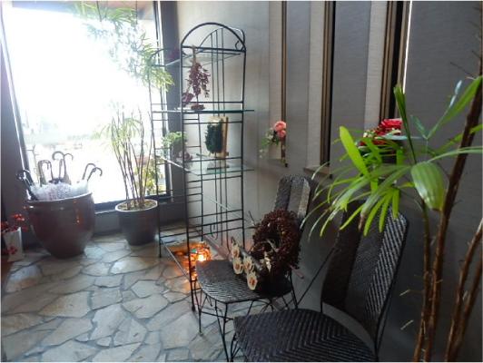 ルチャナの玄関