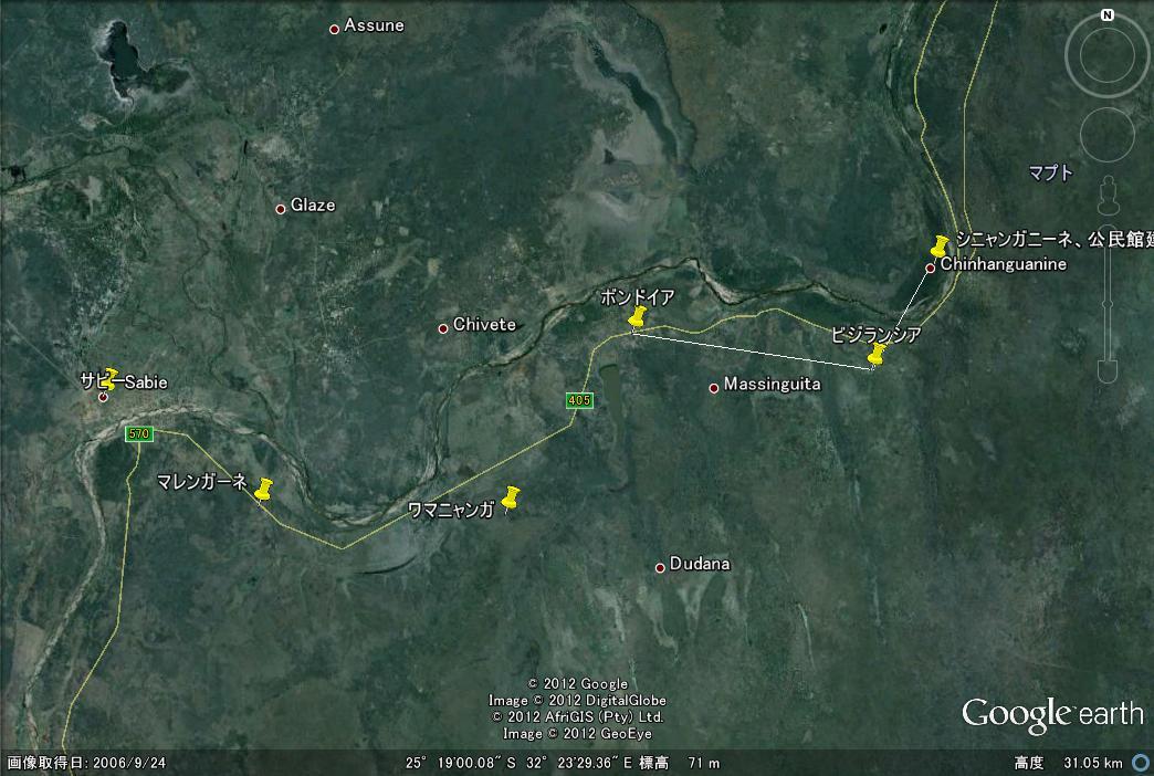 地図 マレンガーネ地区