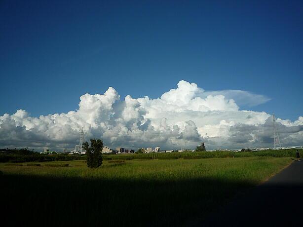 今朝の入道雲、夏の終わり。だといいな