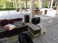 アコーディオンの合奏練習-鏡山公園