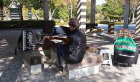 鏡山公園でアコの練習20121026