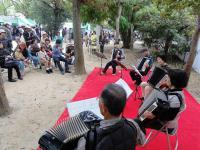 ひろしまフードフェスティバルで演奏20121027-5