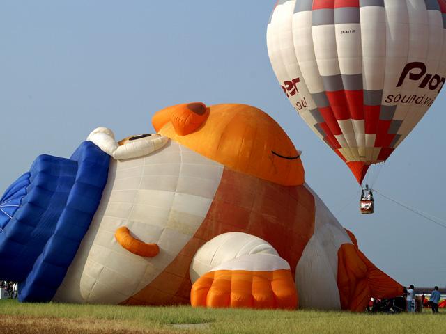 ゴリラの熱気球