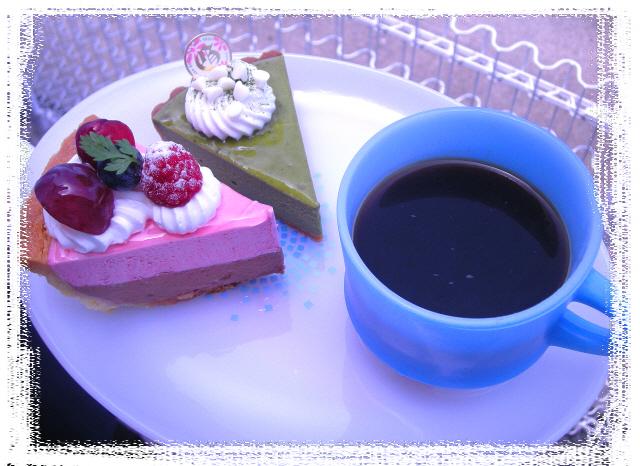 ラズベリ&抹茶