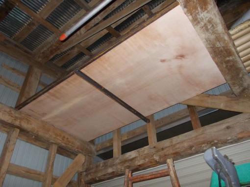 20121124_車庫に棚を作る