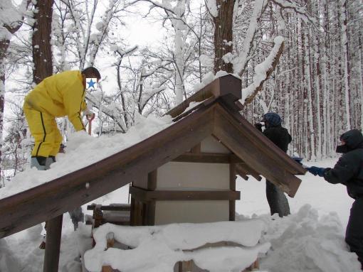 20121230_屋根の雪下ろし