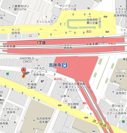 吉祥寺フォースフロア地図