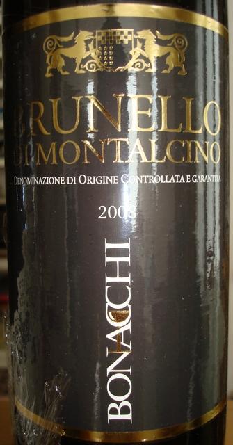 Brunello Di Montalcino Bonacchi 2008
