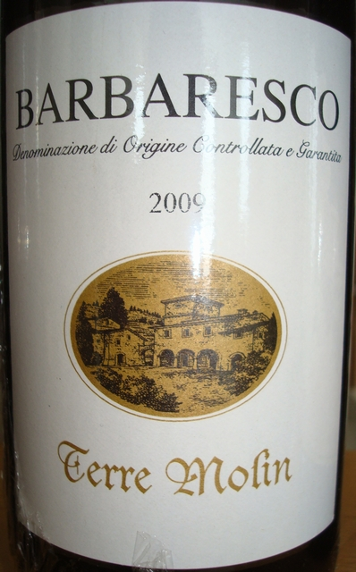 Barbaresco Terre Molin 2009