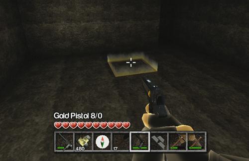 マイクラっぽい画像黄金銃?