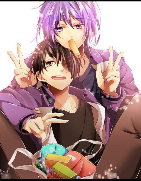 仲良し紫氷