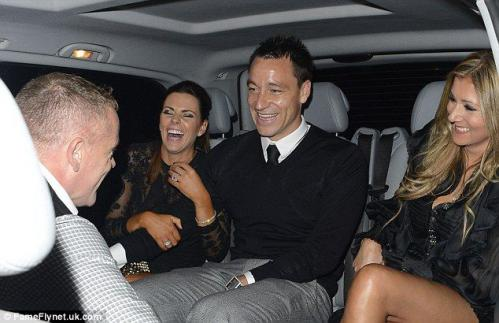 John Terry  Toni Terry Dines At Novikov 09