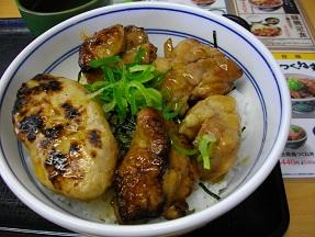 吉野家鳥丼2012.1130