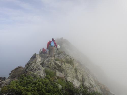 五竜岳頂上へ 2012.07.29-001