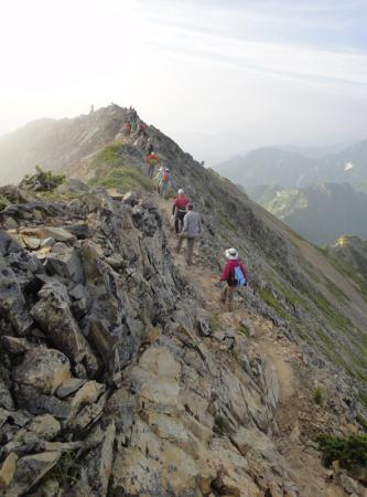 五竜岳への岩稜を歩く 2012.07.29-001