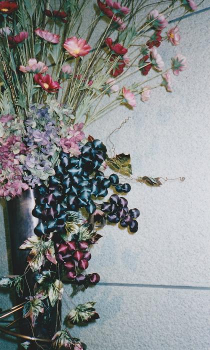 ブログコスモス装花