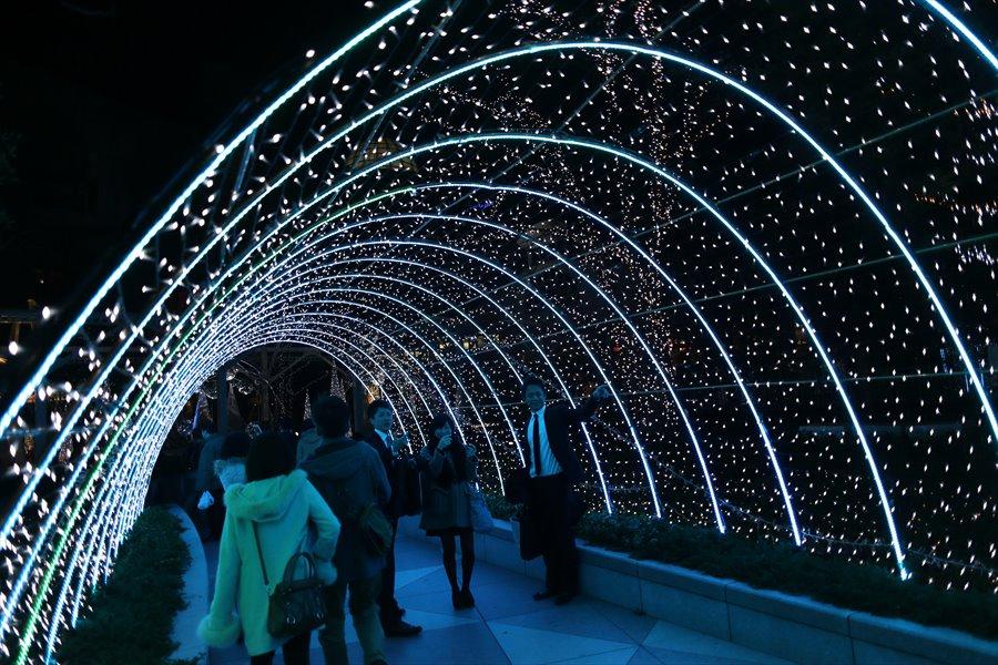 新橋夜景01パナソニックトンネル06