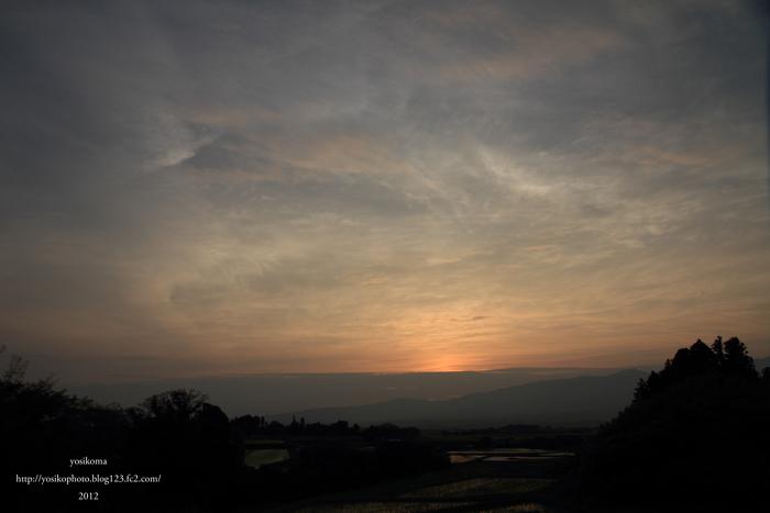 棚田夕陽5