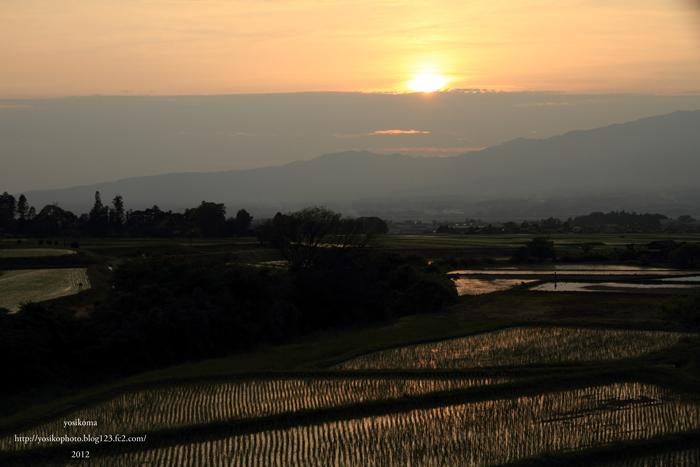 棚田夕陽4
