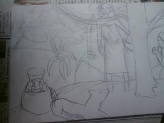 タヒチの牧歌(下絵)