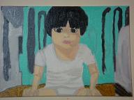 自画像4塗り2回目