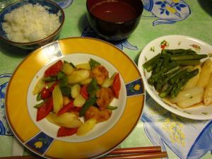 味ぽんと野菜炒め