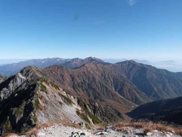10月12日 スバリ岳,赤沢岳,鳴沢岳,岩小屋沢岳