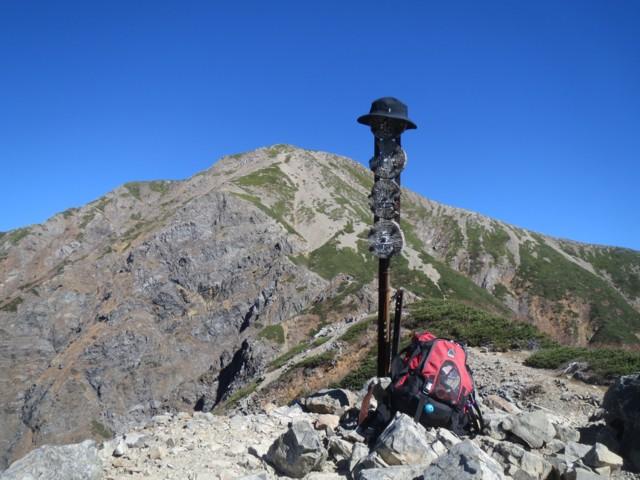 10月19日 小聖岳(2662m)から聖岳