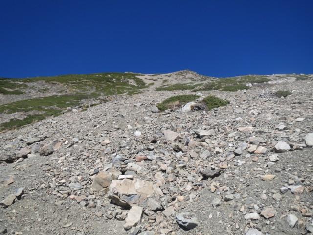 10月19日 聖岳ピーク手前の急登