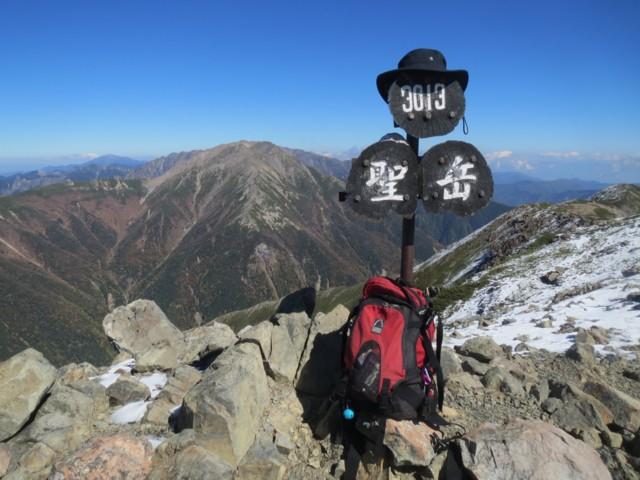 10月19日 聖岳ピーク(3013m)
