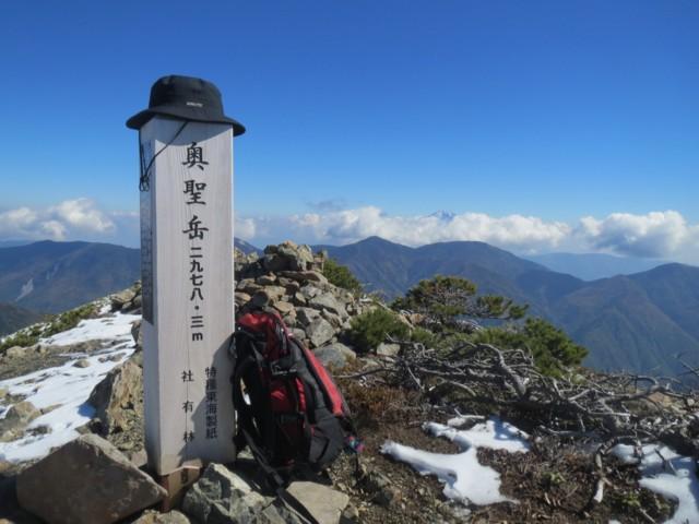 10月19日 奥聖岳(2978m)