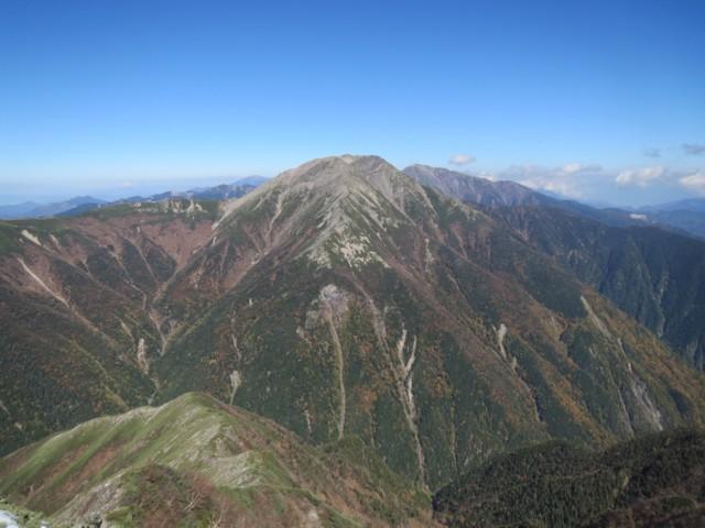 10月19日 奥聖岳から赤石岳