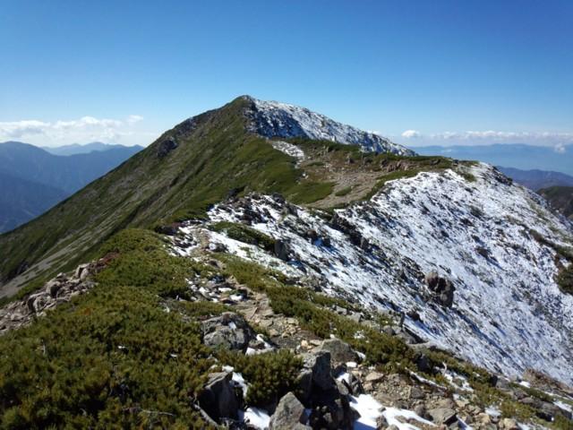 10月19日 奥聖岳から聖岳